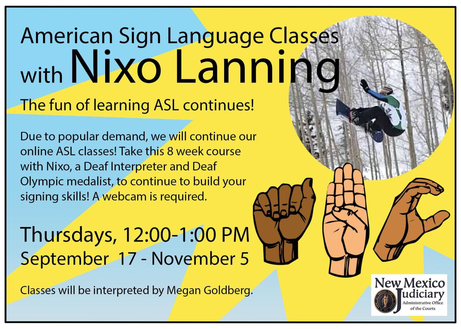 ASL Classes - Sep