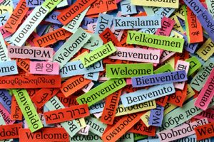 Welcome notes in multiple languages